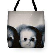 Spooky Doll Heads Tote Bag