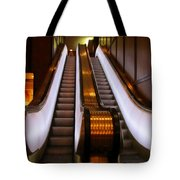 Spooky Escalator At The Brown Palace In Denver Tote Bag