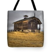 Spooky Old School House Tote Bag