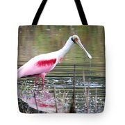 Spoonbill In The Pond Tote Bag