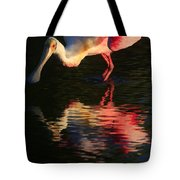Spoonbill Island Reflection Tote Bag