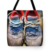 Sport Shoes Drawing Tote Bag