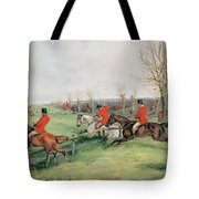 Sporting Scene, 19th Century Tote Bag