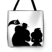 Sports Fans Silhouette Tote Bag