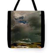 Spot Light On Grey Clouds Tote Bag