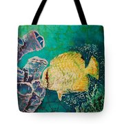 Spotfin Butterflyfish  Tote Bag