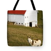 Spotted Donkey Looks Uninterested Tote Bag