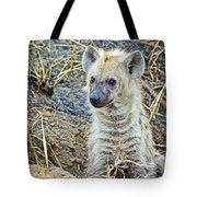 Spotted Hyena Pup In Kruger National Park-south Africa  Tote Bag