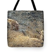 Spotted Hyena Pups In Kruger National Park-south Africa Tote Bag