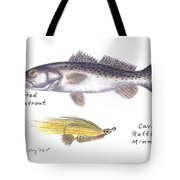 Spotted Seatrout And Rattlin' Minnow Fly Tote Bag