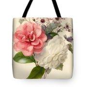 Spray Of Three Flowers Tote Bag