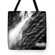 Sprays Of Water On Angled Rock Tote Bag