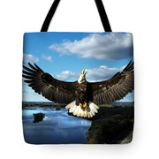 Spread Eagle  Mississippi River Tote Bag