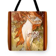 Spring Tote Bag by Alphonse Maria Mucha