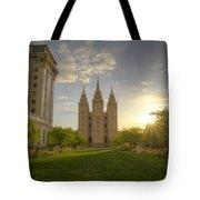 Spring At Temple Square Tote Bag