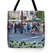 Spring Bike Event From New York To New Jersey Tote Bag