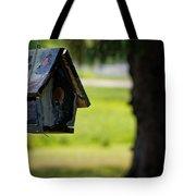Spring Birdhouse Tote Bag