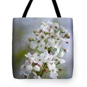 Spring Blooming Bradford Pear Blossoms Tote Bag