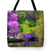 Spring Blossoms On Lake Marmo Tote Bag