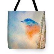 Spring Blues - Digital Watercolor Tote Bag