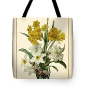 Spring Bouquet Of Daffodils And Narcissus With Butterfly Vertical Tote Bag