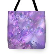 Spring Breeze Pixelated Art Tote Bag