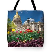 Spring Comes To Wv Capitol Tote Bag