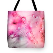 Spring - Dandelion With Water Droplets Abstract Tote Bag