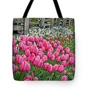 Spring Fence Landscape Art Prints Tote Bag