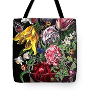 Spring Flower Bouquet Tote Bag