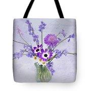 Spring Flowers In A Jam Jar Tote Bag by Ann Garrett