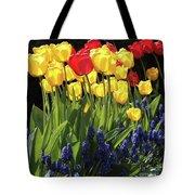 Spring Garden Sunshine Square Tote Bag