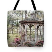 Spring Gazebo Painteffect Tote Bag