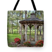 Spring Gazebo Pastel Effect Tote Bag