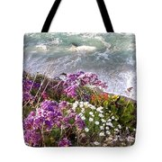 Spring Greets Waves Tote Bag