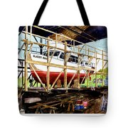 Yacht Glacier Bear Hauled Out In Gig Harbor Tote Bag