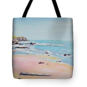 Spring Hills And Seashore At Bowling Ball Beach Tote Bag
