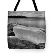 Spring In January Block Of Ice Bw Tote Bag
