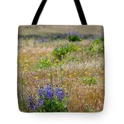 Spring Lupines And Cheatgrass Tote Bag