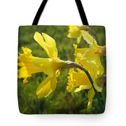 Spring Meadow Field Daffodil Flowers Tote Bag