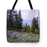 Spring Mountain Lupines Tote Bag