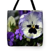 Spring Pansy Flower Tote Bag
