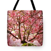 Spring Pink Dogwood Tree Blososms Art Prints Tote Bag by Baslee Troutman