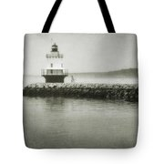 Spring Point Ledge Light Tote Bag by Joan Carroll