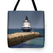 Spring Point Ledge Light Tote Bag by Joann Vitali