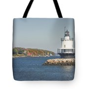 Spring Point Ledge Lighthouse On The Maine Coast Tote Bag