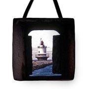 Spring Point Ledge Lightouse Tote Bag by Skip Willits