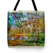 Spring Pond Photoart Father's Day Tote Bag