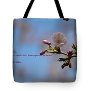 Spring Quote Tote Bag
