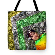 Spring Rainbow And Girl Tote Bag